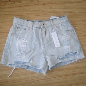 Rue 21 Distressed High Waisted Shortie Sz 0
